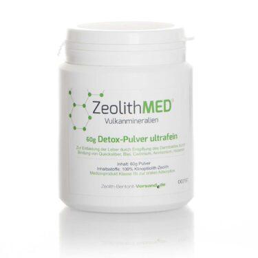 Ζεόλιθος MED® detox πολύ λεπτή πούδρα έως 10 μικρά - 60 γραμμάρια