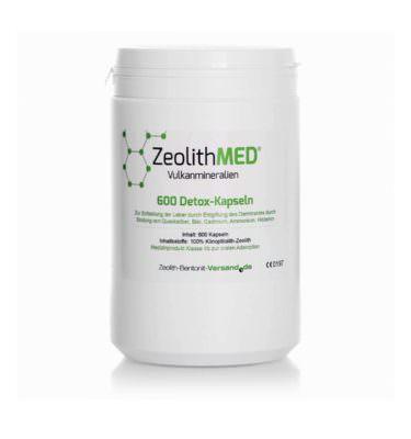 Ζεόλιθος MED® detox κάψουλες - 600 τεμάχια για 100 ημέρες