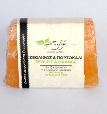 Ζεοσαπούνι ζεόλιθος και πορτοκάλι - 125 γραμμάρια