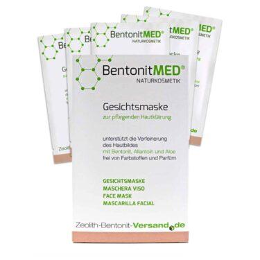 Μάσκα προσώπου με μπεντονίτη MED®, αλλαντοΐνη και αλόη. Φυσική φροντίδα και καθαρισμός του δέρματος - 5 x 12ml