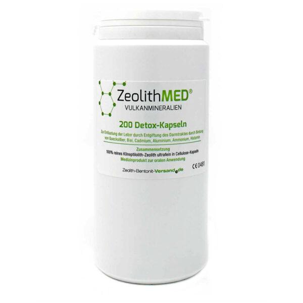 Ζεόλιθος MED® detox εξαιρετικά λεπτή πούδρα έως 10 μικρά - Κάψουλες - 200 τεμάχια