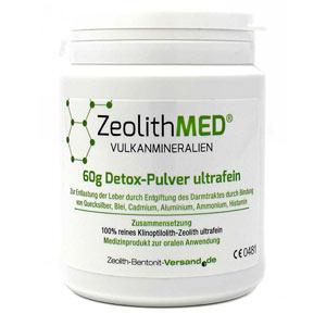 Ζεόλιθος MED® detox πολύ λεπτή πούδρα έως 10 μικρά και σε πρακτικές συσκευασίες και σε κάψουλες.