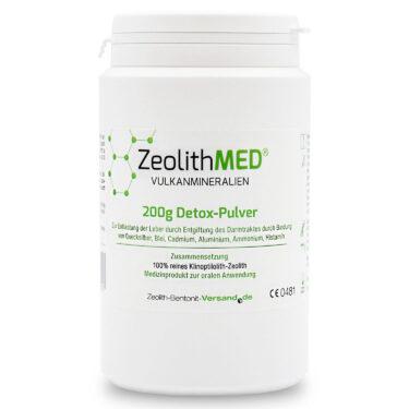 Ζεόλιθος MED® detox πολύ λεπτή πούδρα - 27 μικρά - 200 γραμμάρια