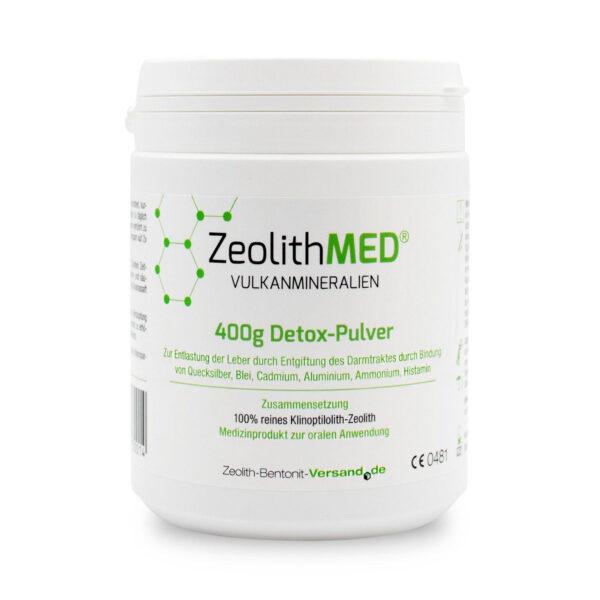 Ζεόλιθος MED® detox πολύ λεπτή πούδρα - 27 μικρά - 400 γραμμάρια