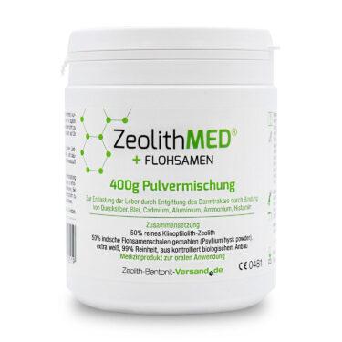 Ζεόλιθος MED® detox και πίτουρο από βιολογικό Ψύλλιο - 400 γραμμάρια