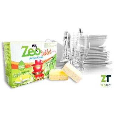 ZeoTablet Active Clean - Απορρυπαντικό για πλυντήρια πιάτων - 15 Ταμπλέτες