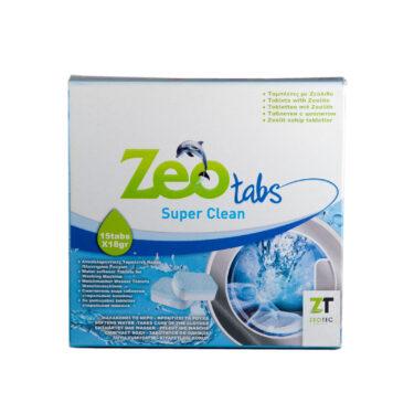 ZeoTabs Super Clean - Αποσκληρυντικό νερού για πλυντήρια ρούχων - 15 Ταμπλέτες