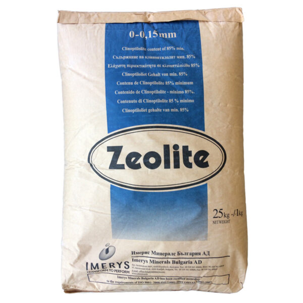 Ζεόλιθος έως 0,15 χιλιοστά – Λεπτή πούδρα, ιδανική για ενσωμάτωση πολύ μικρής κλίμακας και κτηνοτροφική χρήση - 25 κιλά