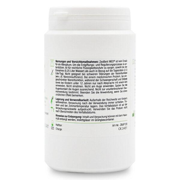 Ζεόλιθος MED® και Μπεντονίτης MED® μίγμα - εξαιρετικά λεπτή πούδρα έως 10 μικρά – 120 γραμμάρια