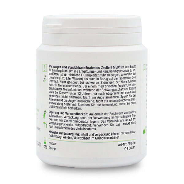 Ζεόλιθος MED® και Μπεντονίτης MED® μίγμα - εξαιρετικά λεπτή πούδρα έως 10 μικρά – 60 γραμμάρια