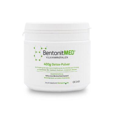 Φυσικός Μοντμοριλλονίτης Μπεντονίτης MED® detox - εξαιρετικά λεπτή πούδρα έως 16 μικρά - 400 γραμμάρια