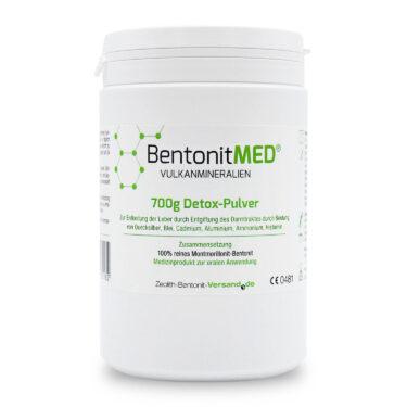 Φυσικός Μοντμοριλλονίτης Μπεντονίτης MED® detox - εξαιρετικά λεπτή πούδρα έως 16 μικρά - 700 γραμμάρια