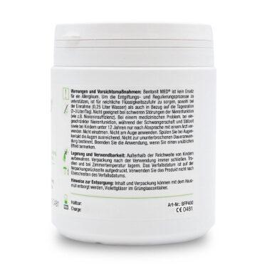 Μπεντονίτης MED® detox και πίτουρο από βιολογικό Ψύλλιο - 400 γραμμάρια