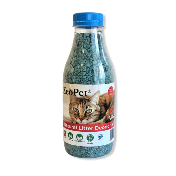 ZeoPet με άρωμα τριαντάφυλλου - Φυσικό πρόσθετο απόσμησης λεκάνης γάτας για 30 ημέρες - 500gr