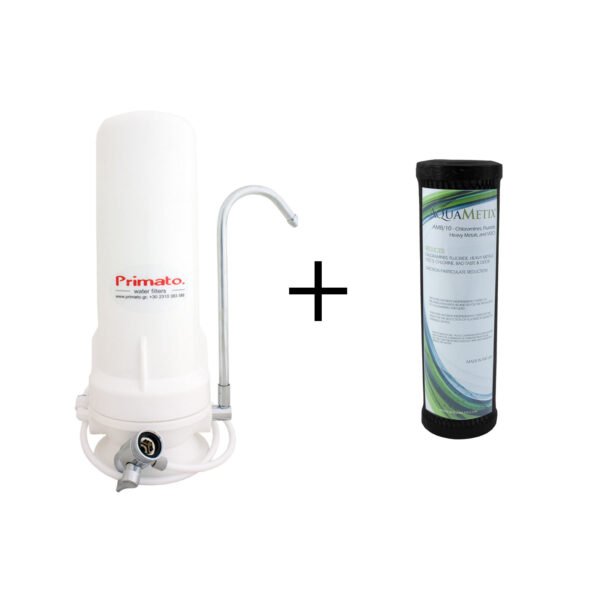 "AquaMetix® 10"" - φίλτρο συμπαγούς ενεργού άνθρακα 2μm με Ζεόλιθο"
